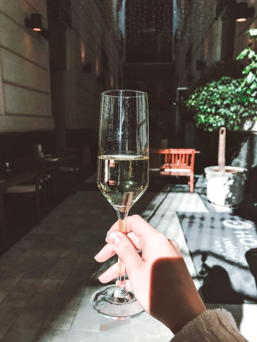 Complimentary drink at Hospes Amerigo Hotel Alicante